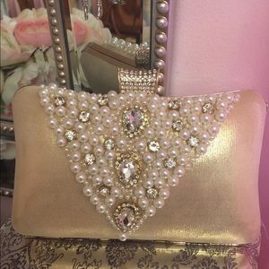 Special occasion bejeweled clutch
